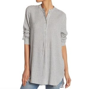 Madewell Wellspring Tunic Popover Shirt Windowpane
